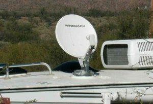 sat antenna installation